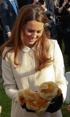 Kate Middleton adores a teddy bear while at an event with Prince William | Photos