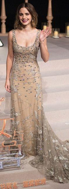 Emma Watson in Dress – Elie Saab  Earrings – Repossi