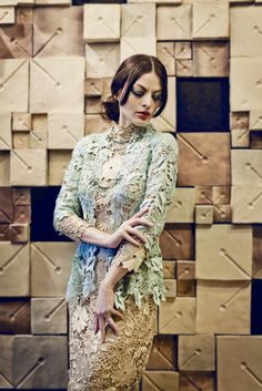 Feminine  Dress by Sebastian Gunawan.  Inspired by the laces.