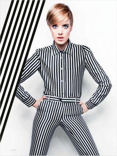 Agyness Deyn by Rankin for InStyle UK March 2013 Uk Fashion, White Fashion, Fashion Trends, Fashion Cover, Fashion Edgy, Fashion 2018, Fashion Fashion, Spring Fashion, Fashion Dresses