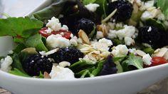 Blackberry, feta salad
