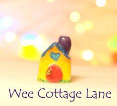 Tiny Mini House, Mini House, Tiny House, Ceramic House, Mini Cottage, Miniature Cottage, Wee Cottage Lane, Tiny Home, MiniHome
