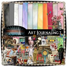 Art Journaling 3 by Holliewood Studios. Digital images for your art journaling, mixed media and scrapbooks.