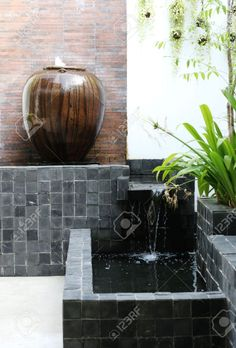 Asian style water garden