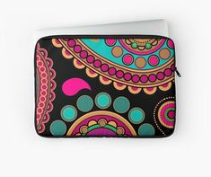 indian paysley pattern rainbow Laptop case / Ipad case Laptop Case, Ipad Case, Telephone, Rainbow, Indian, Iphone, Pattern, Bags, Rain Bow