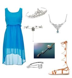 """""""Kaylie's Vessel outfit"""" by crazykaylie on Polyvore featuring New Look, Ancient Greek Sandals, Nina, Alex and Ani and Bling Jewelry"""