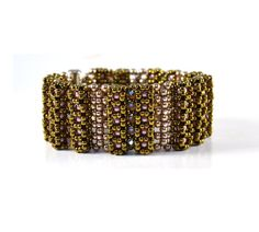 Liisa Turunen Designs - Bengal Bracelet Beading Pattern, $15.00 (http://www.liisaturunendesigns.com/bengal-bracelet-beading-pattern/)
