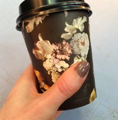 At fashion week, even the takeaway coffee cups are super stylish. And don't they look good with Commander In Chic?