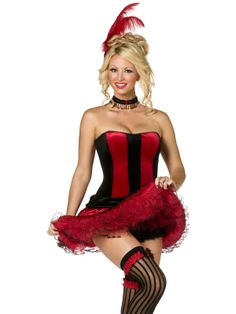 ce108a6e95 The Can Can Sweetie fancy dress costume comes with feather hair clip