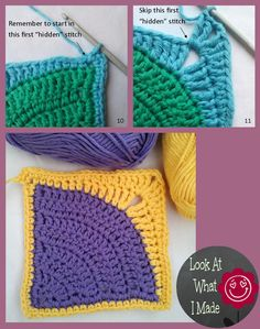 Iced Pie Square How To3 Iced Pie Square Crochet Pattern