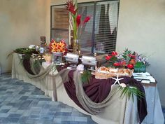 party buffet tables | luau buffet table | Parties