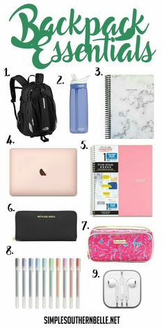 Backpack Essentials | Study Inspiration | Source: Unknown
