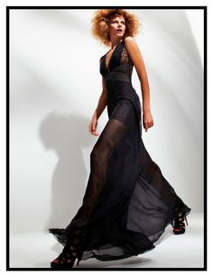 ebac018ae Black silk mousseline, organza and lace dress Dress Images, Black Silk,  Pretty Outfits