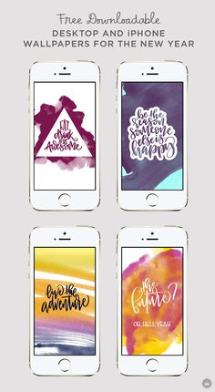Get 2017 off to a strong start with inspiring digital wallpapers by Hallmarker Kelsey DeJesus. (From the Creative Studios at Hallmark.)