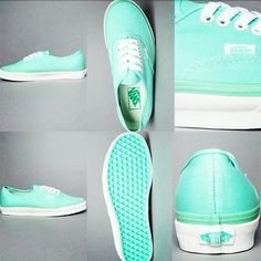 I suddenly got this INSANE obsession with Tiffany blue. And I've always loved Vans, so this is really a no-brainer.