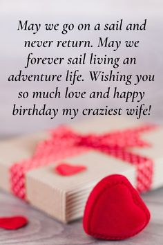 Loveliest happy birthday wishes for your wife. Tell her how much you love her with these lovely wishes and messages. Crazy Wife, My Crazy, Birthday Wishes For Wife, Happy Birthday Me, Wishes For You, Romantic Quotes, Messages, Text Posts