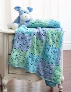 3836-3 Color Crochet Blanket