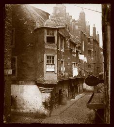 Cardinal Beaton's House, The Cowgate, Edinburgh. Photograph by Thomas Keith, circa 1860