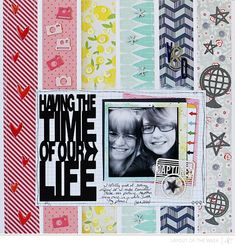 LOTW | Valerie Backround Streifen aus Strips COOL!