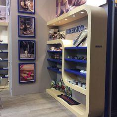 Display design booth stand #birkenstock expo intermoda by CAMALEONDISPLAY