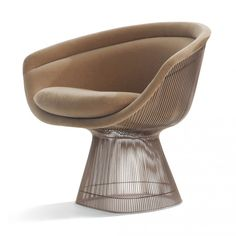 Buy the Platner Lounge Chair Metallic Bronze & Alpaca Fabric by Warren Platner and more online today at The Conran Shop, the home of classic and contemporary design Raymond Loewy, Warren Platner, Paulistano, Furniture Dining Table, Kartell, Steel Rod, Contemporary Interior, Side Chairs, Modern Design