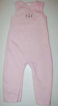 EUC Baby Gap Pink Longall One Piece Romper Outfit Girls Sz 18 24m FREE SHIPPING
