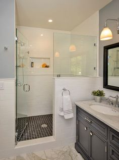 Bow to the Trees in Menlo Park Makeover traditional-bathroom