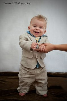So cute in a little suit.