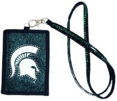 NCAA Michigan State Spartans Beaded Lanyard with Nylon Wallet by Rico. $8.24. ID case with zipper pocket. Primary and Secondary team colors. Officially licensed. Going to the game or going out; keep your essentials secure with Rico Tag's Beaded Lanyard with Nylon Zippered wallet.  Double row of team color beads on lanyard with lobster claw to hold nylon wallet.  Wallet boasts officially licesned team logo with outlined team color beading.  Zippered closure.