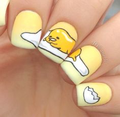 32 Nail Art Designs Telling Short Stories and It's Breathtaking - bemethis Cute Nail Art, Cute Nails, Pretty Nails, Anime Nails, Kawaii Nails, Cute Nail Designs, Creative Nails, Nail Tutorials, Mellow Yellow