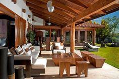 terraza : Varandas, alpendres e terraços modernos por Taller Luis Esquinca