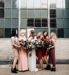 Image result for bridesmaid dresses mismatched