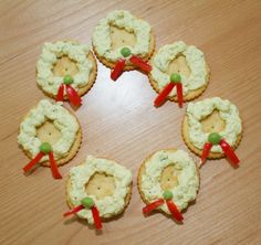 Toby's Tofu Holiday Wreath on a cracker