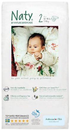 Naty by Nature Babycare Diapers - natural, non-toxic disposable diapers