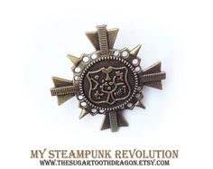 Hat Pin - Tie Pin  My Steampunk Revolution  by thesugartoothdragon on Etsy, $12.00