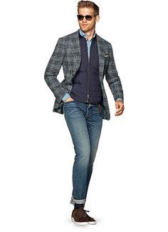 Jacket Grey Check Havana C1010 | Suitsupply Online Store