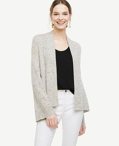 Image of Cashmere Bell Sleeve Open Cardigan