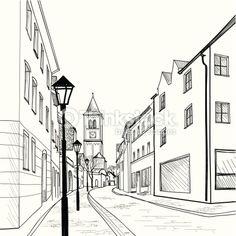 Vector Art: Sketch of the city.
