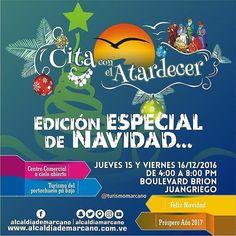 #CitaConElAtardecer.  Edición especial de #Navidad.  15/12/2016.  16/12/2016.  4:00 p.m. Boulevard Brión #juangriego  #NorteSeguro  #margarita #venezuela #emprendedores #gastronomia #musica #familia - #regrann