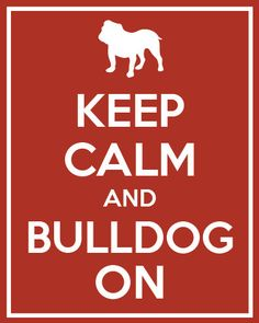 Keep Calm and Bulldog On Silhouette, Dog Print, Home Decor, 8x10 Art Print, Perfect Gift, Pet Lover Gift on Etsy, $15.00