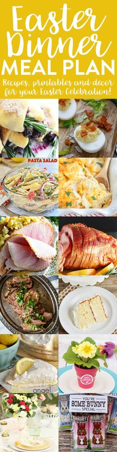 Easter Dinner Recipes and Printables Meal Plan | http://thecookiewriter.com | #Easter #recipes #dinner