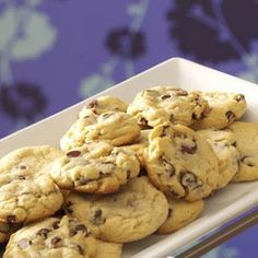 Two-Chip Chocolate Chippers Recipe from Taste of Home -- shared by Lee Ann Miller of Millersburg, Ohio