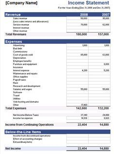 Small Business Income Statement Template Awesome 5 Free In E Statement Examples and Templates Business Plan Example, Business Mission, Business Continuity Planning, Business Planning, Business Tips, Personal Financial Statement, Income Statement, Bank Statement, Business Budget Template