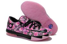 pretty nice 13be0 3a762 Mens Nike Zoom KD VI 6 Black and Pink Colorway
