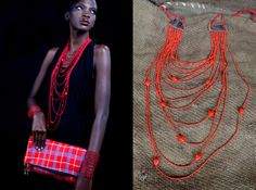 Unforgettable in Red – Adele Dejak Kenua Maasai Clutch and Patricia Necklace