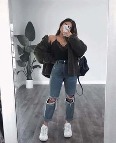 Trendy Fall Outfits, Cute Comfy Outfits, Casual Winter Outfits, Winter Fashion Outfits, Retro Outfits, Simple Outfits, Look Fashion, Stylish Outfits, Girl Fashion