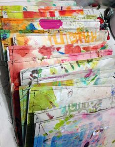 """""""Every Life Has a Story!"""" - {Roben-Marie Smith}  Use art pages and papers sewn together as envelopes!"""