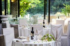 Sala ristorante con vista pineta