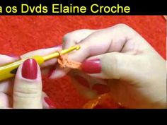CROCHE PARA CANHOTOS - LEFT HANDED CROCHET - PONTO BAIXO - YouTube