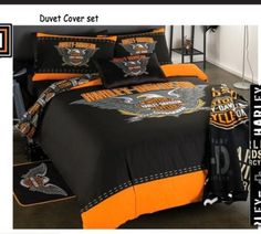 harley davidson bedding queen | Single - HARLEY DAVIDSON - Single bed Duvet cover and Pillow slip- R1 ...